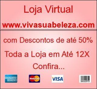Loja virtual de cosméticos, produtos avon, toda a loja com até 50% de desconto e até 12x nos cartões de creditos...
