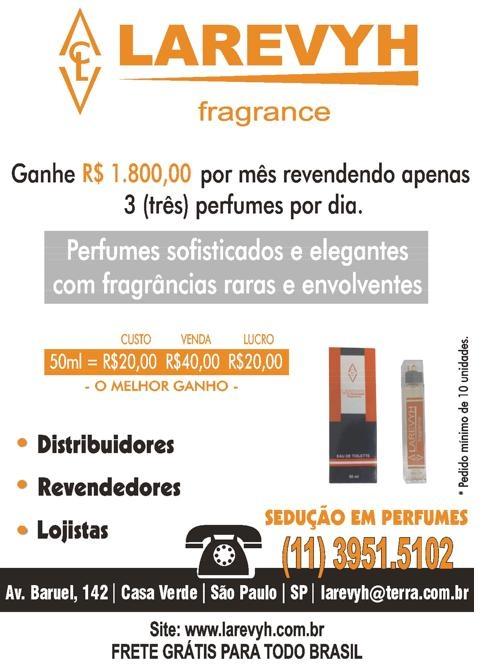 """Perfumes """"larevyh"""" 100% de lucro e frete grátis"""