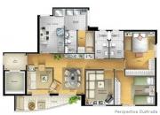 Apartamento 3 dormitórios 1 suíte alto da boa vista