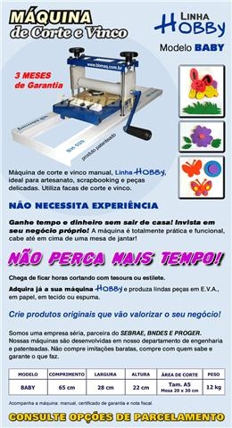 Fotos de Bbmaq hobby baby maquina corte vinco eva artesanato scrapbook 4