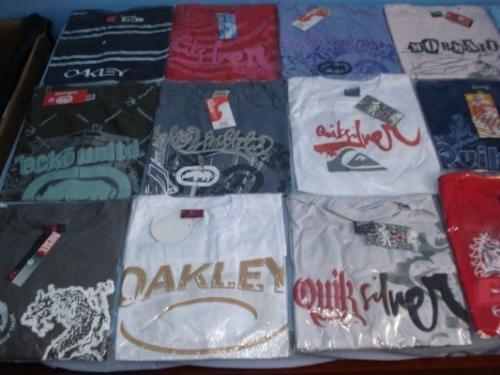 Camisetas de todas as marcas
