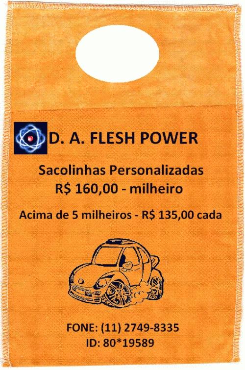 D. a. flesh power especializada em produtos de limpeza automotiva e em geral.