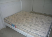 vendo cama cassal branca semi nova