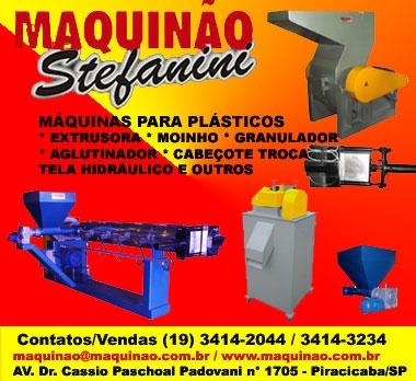 Extrusora moinho granulador aglutinador para plástico maquinao stefanini. 19-3414-2044