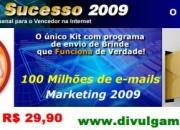 Kit do sucesso ? listas com até 100 milhões de e-mails segmentadas!