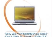 Sony Vaio VGN-NS160ES, Intel Core 2 Duo 2.0GHz, Memória 2Gb, HD 160Gb, Tela 15.4´