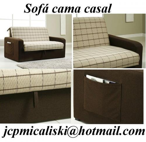 Sofá cama casal com baú - curitiba