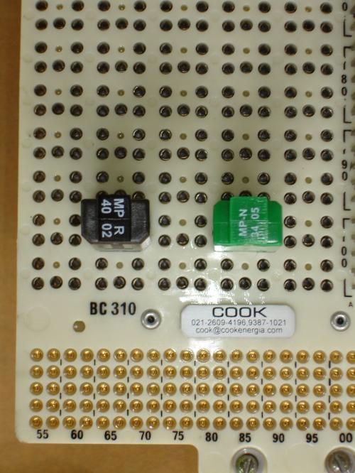 Bloco terminal, bloco protetor b310, c310, b318, c318 e outros blocos protetores até 100