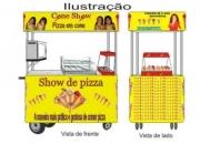 carrinho para pizza cone