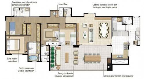 Lançamento apartamento mooca 243 e 148m2 - terrazza mooca