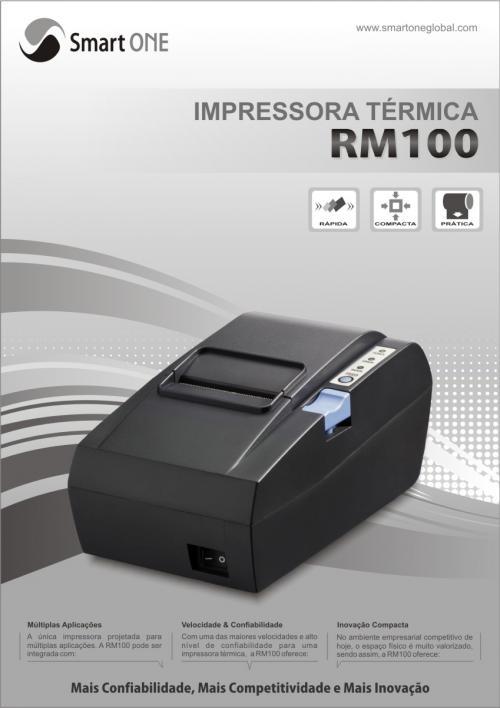 Fotos de Impressora térmica não fiscal smartone rm100 bobinas grátis! nova 57mm 1 ano gar 3