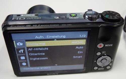 Fotos de C?mera digital sony dsc - hx5 + cart?o de 8 gb full hd (1920x1080i) 4
