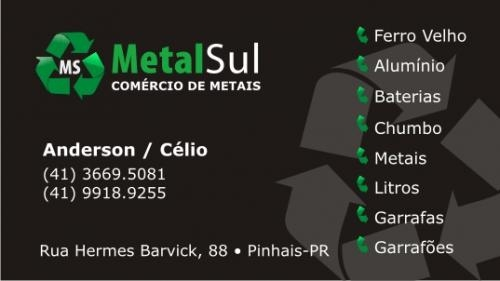 Ferro velho metalsul comércio de metais