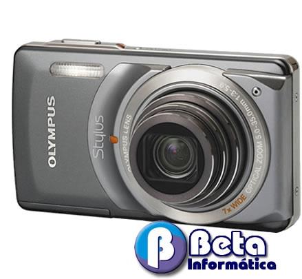 Câmera digital olympus stylus 7010 12mp lcd 2.7´´ zoom 7x video c/ audio estabilizador de img