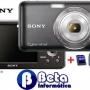 Câmera Digital Sony W310 12.1MP LCD 2.7''Zoom 4x + SD 4GB + Capa + Tripe de Brinde