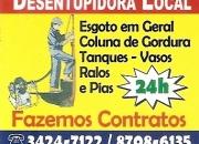 DESENTUPIDORA LOCAL EM COPACABANA , IPANEMA , LEBLON 24 HS