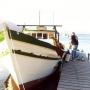 Barco para pesca de malha e arrasto