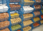 Amendoim, castanha de caju, amêndoas, soja, pistache.