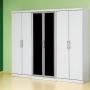 vendo guarda roupa branco com 6 portas com vidros fumé