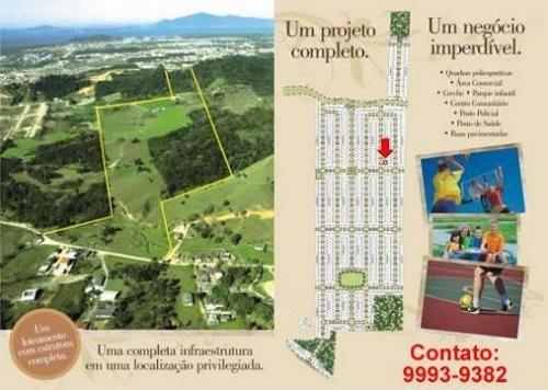 Terreno palhoça - parque residencial jardins - 200 m²
