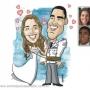 Caricatura para Convites de Casamento em Campinas