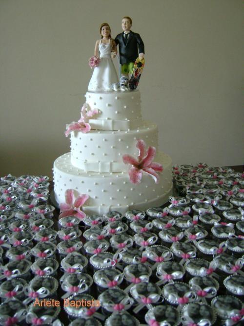 Fotos de Noivinhos personalizados topo de bolo 1