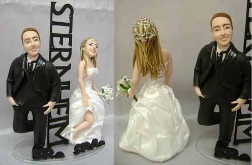 Fotos de Noivinhos personalizados topo de bolo 2