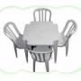Aluguel de mesas e cadeiras plásticas SP