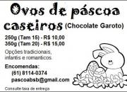 Deliciosos ovos de páscoa caseiros (chocolate garoto)