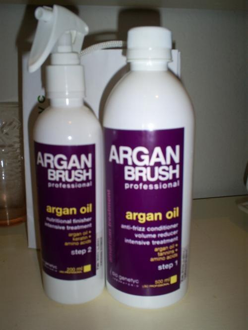 Escova sem formol com óleo de argan