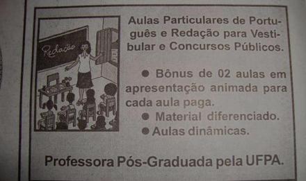 Aulas particulares de redação e língua portuguesa em curitiba
