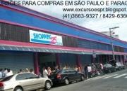 excursão para compras em São Paulo