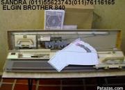 VENDO MAQUINA DE TRICO ELGIN BROTHER 840 C/OUS/FRONTURA