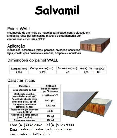 Painel wall e placas cimenticias direto de fabrica