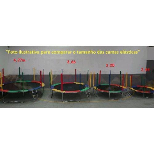 Cama elástica 3,66m completa colorida e importada
