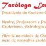 Taróloga, Terapeuta Espiritual e Cartomante LENY