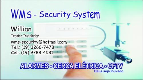 Sistemas de alarmes, cameras de video, cerca eletrica e interfones