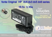 Fonte Carregador Hp Dv4 Dv5 Dv6 Dv7 Compaq Cq40 Cq45 Cq50 em Brasília DF
