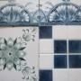 Azulejos antigos coloniais importados, ceramica prezada decorada grande oportunidade!