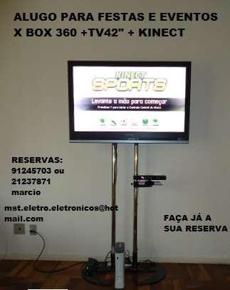 Aluguel de x box 360 + kinect + tv lcd 42