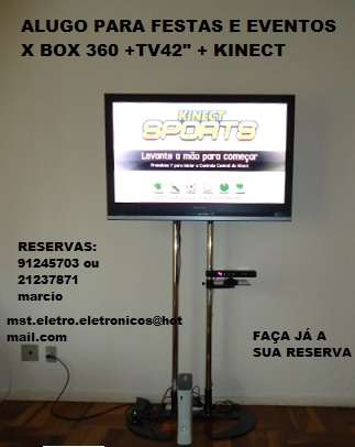 Fotos de Aluguel de x box 360 + kinect + tv lcd 42 1