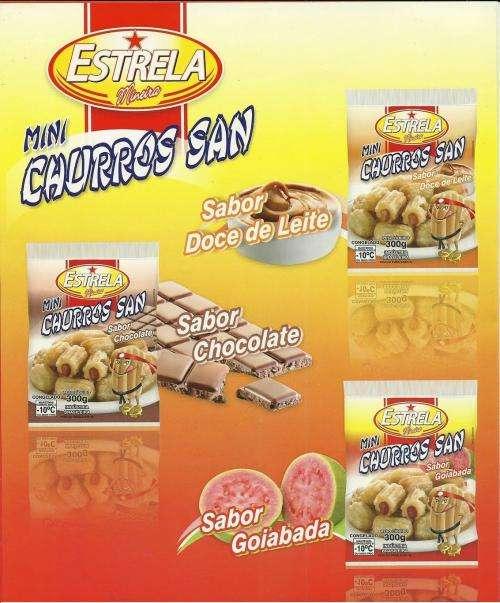 Mini-churros recheado congelado - r$ 9,50/kg