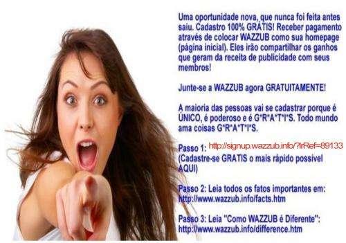 Aqui vos apresento outra das grandes promessas para 2012: wazzub