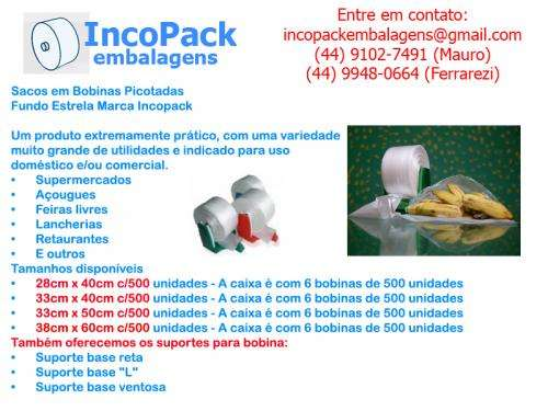 Representante comercial ( bobinas fundo estrela ) embalagens plásticas