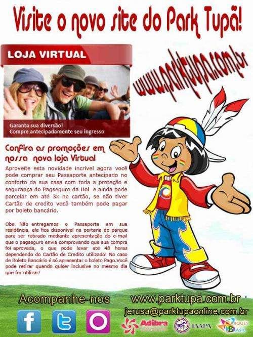 Park tupã - nova loja virtual