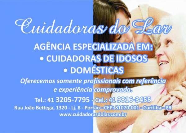 Agência especializada em de cuidadoras de idosos