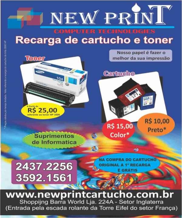 New print cartuchos e equipamentos de informática
