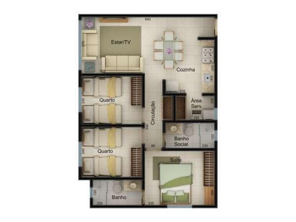Fotos de Apartamento 3 quartos totalmente financiado 2
