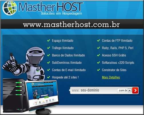Masther host - soluções em hospedagem