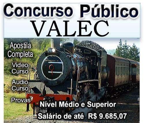 Apostila video concurso valec 2012 edital provas